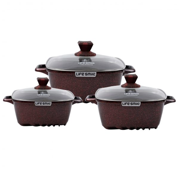 Buy 6PCS Square Cookware Set – Red online