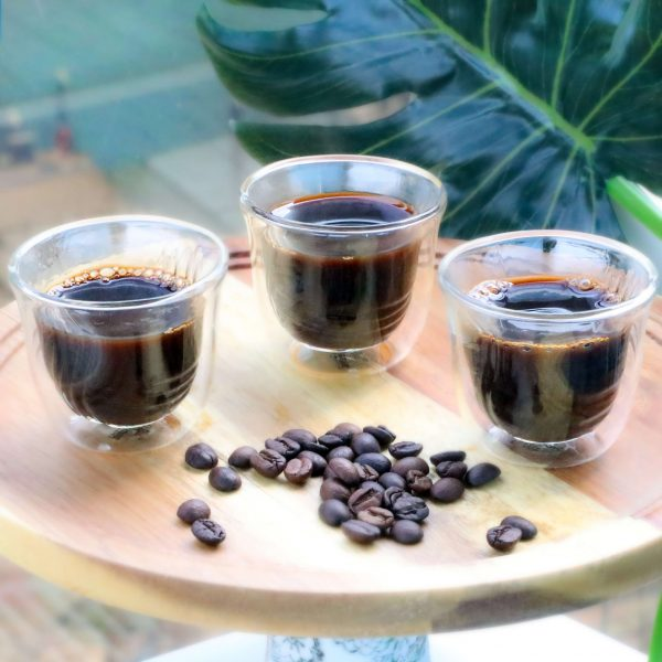 Buy 6PCS double wall glass cawa cups online